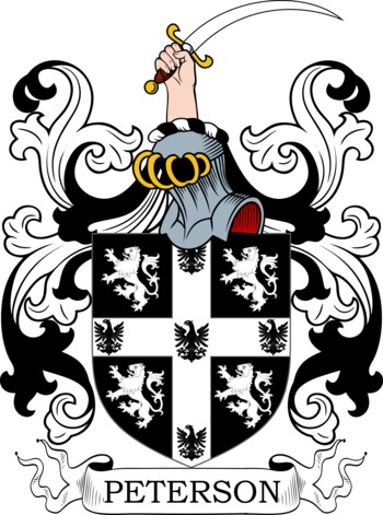 PETERSON family crest