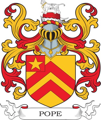 POPE family crest